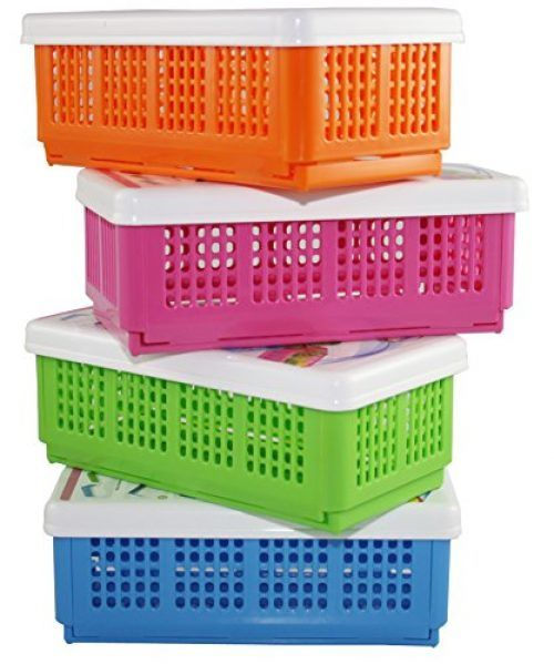 Jewel Plast By Csm Set Of 4 Foldable Multipurpose Baskets At Rs