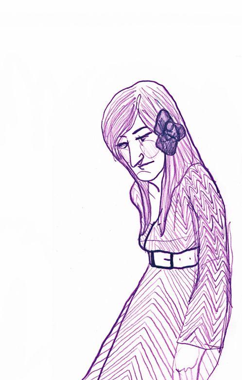Zigzag dress  Drawing by Consti* | Tim's Art | Drawings, Art