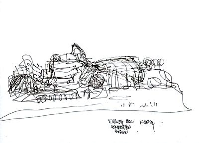 Frank Gehry Sketch Of Walt Disney Concert Hall Architecture