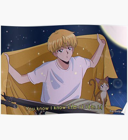 Photo of 'BTS V & JIMIN – Boy with luv 90's anime' Poster by hanavbara