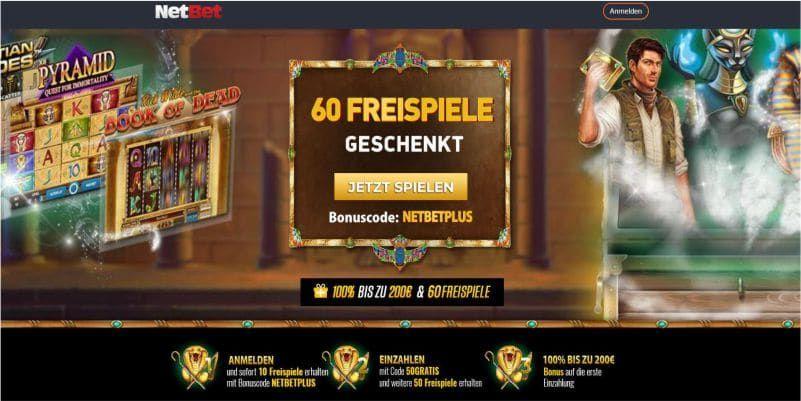 Netbet casino bonus 🤑 50 freispiele ohne einzahlung