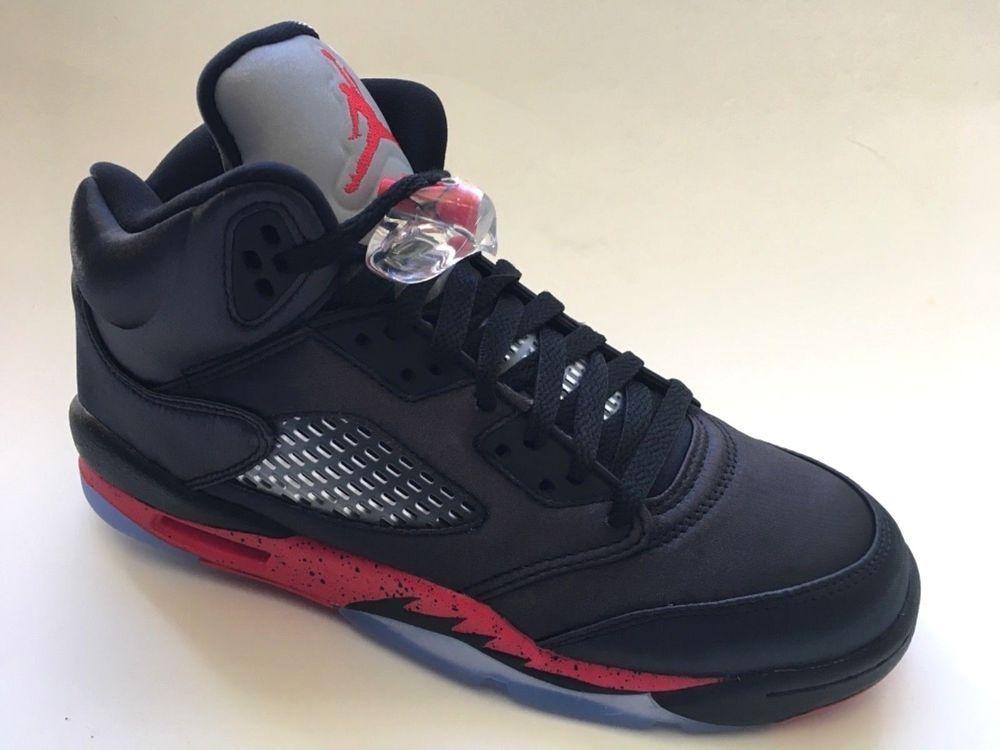 b3c0c319a662 eBay  Sponsored Air Jordan 5 Retro Satin Bred Black University Red IN STOCK  Big Kid s 7