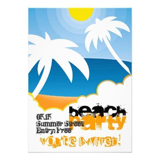 kundengerechte strand-party einladung | strands, parties and vorlage, Kreative einladungen