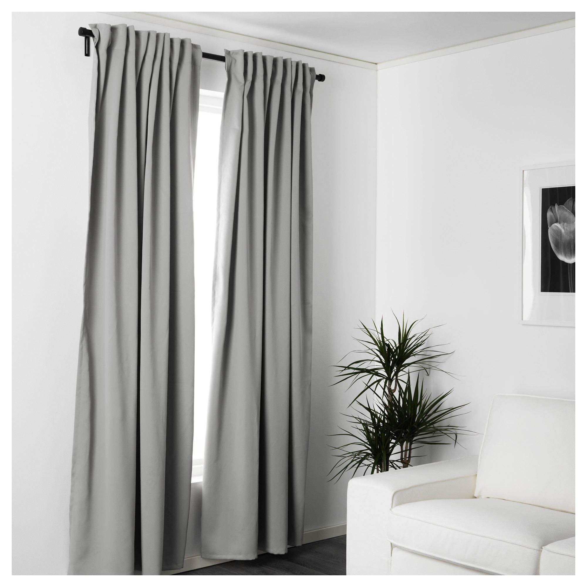 Ikea Vorhänge Majgull Ikea Majgull Blackout Curtains 1 Pair Gray Block Out