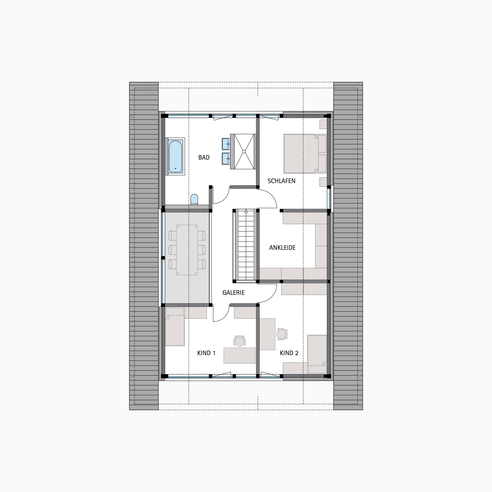HUF Fachwerkhaus Grundriss Dachgeschoss MODUM 711 Haus