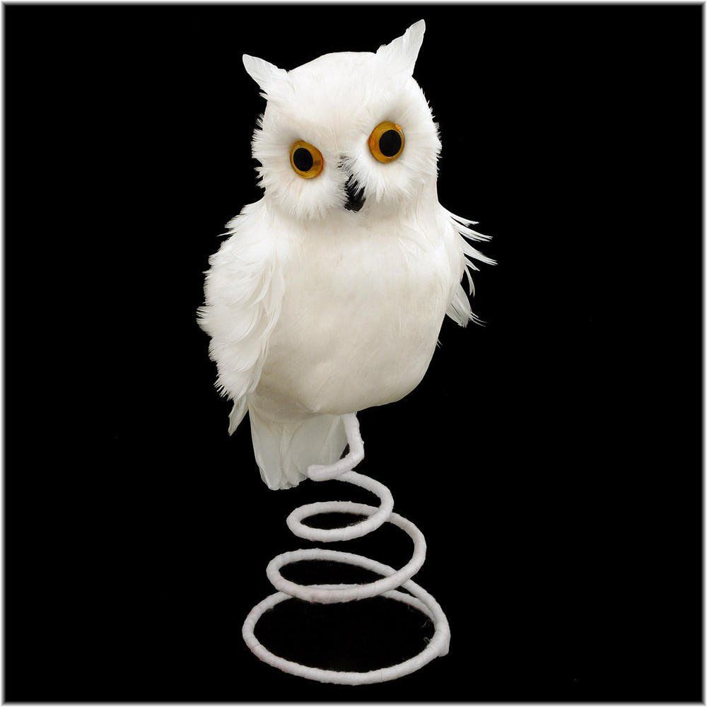 Harry Potter Christmas Tree Topper: Snowy Owl Feathered Tree Topper