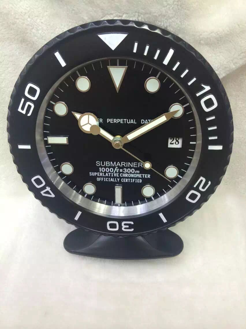 2015 new model home decor all black rolex submariner table clock