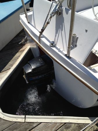 Outboard Engine In A Dedicated Transom Well On A Catalina 27