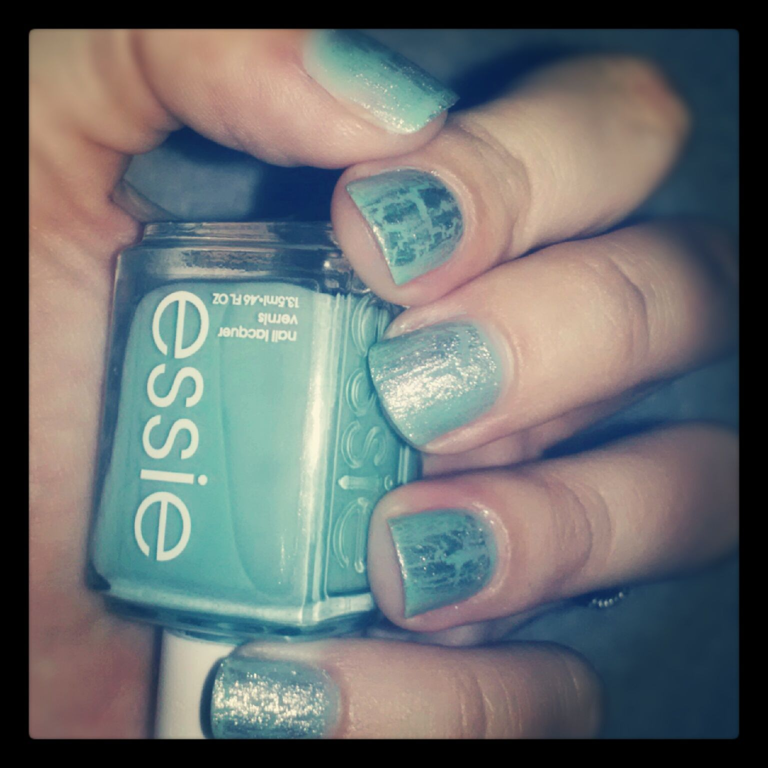 Turquoise looks really fresh in the summer time fancy nails