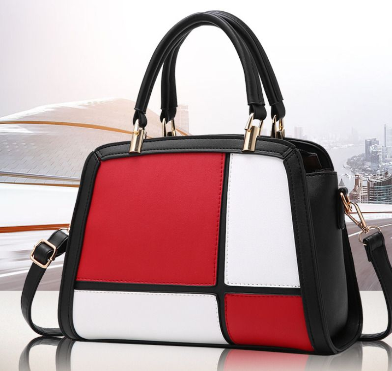 Ladies bag 2017 new medium block color portable Satchel Bag simple  atmosphere   eBay b66e6fc8fa