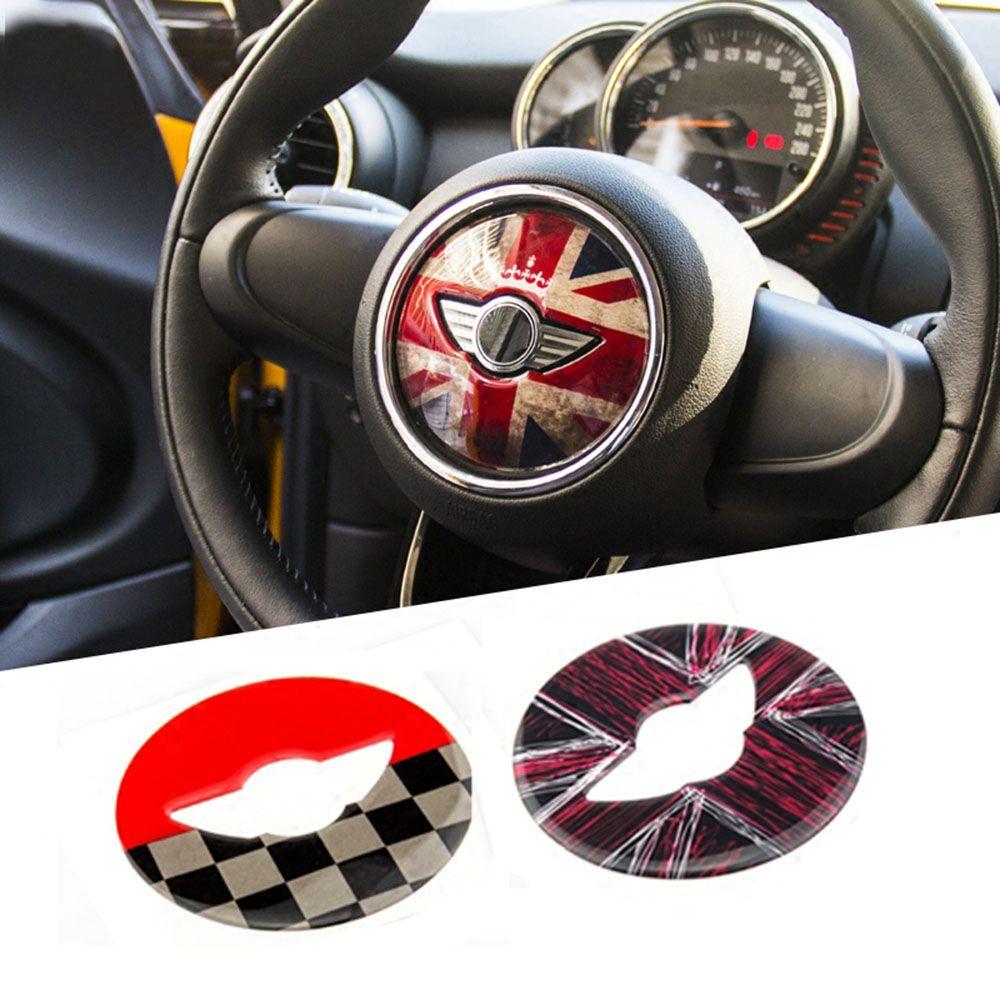 Union Jack Steering Wheel Center Sticker Decals Decoration For Bmw Mini Cooper Jcw F55 F56 Interior Car Styl Mini Cooper Mini Cooper Accessories Steering Wheel