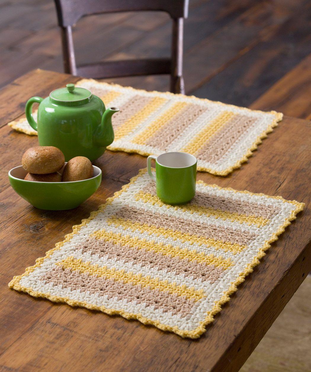 Ravelry: Cornmeal Mats by Katherine Eng...Free pattern! | Crochet ...