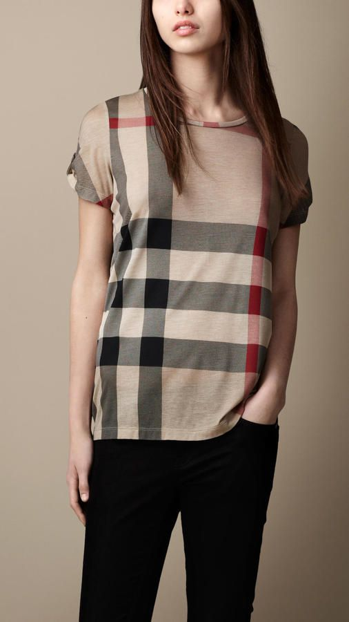 3d5597060ce7 Burberry Printed Check T-shirt on shopstyle.com | Stuff to Buy ...