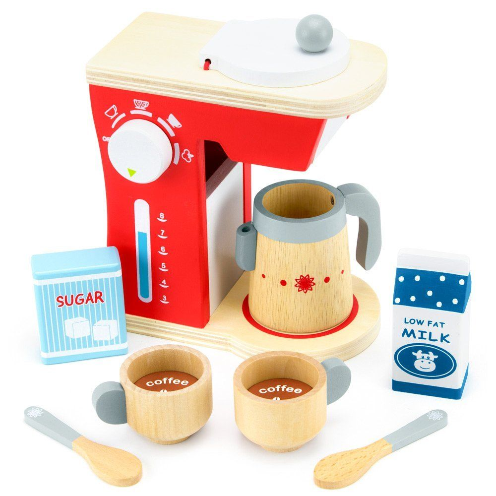 Wood Eats Good Mornings Coffee Maker Playset With Milk