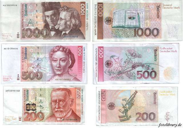 Deutsche Mark Card toppers, Card making crafts
