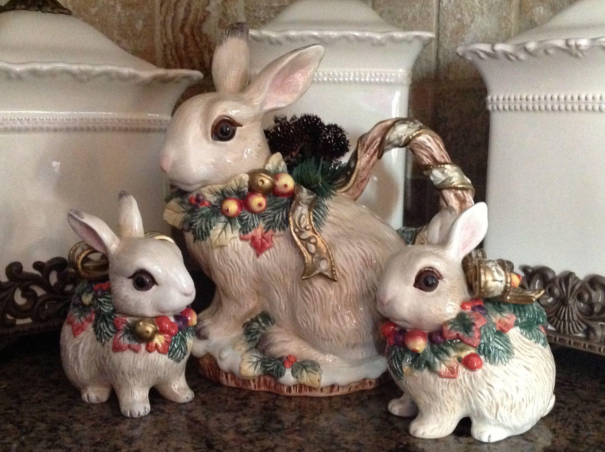 Fitz & Floyd Christmas Bunnies