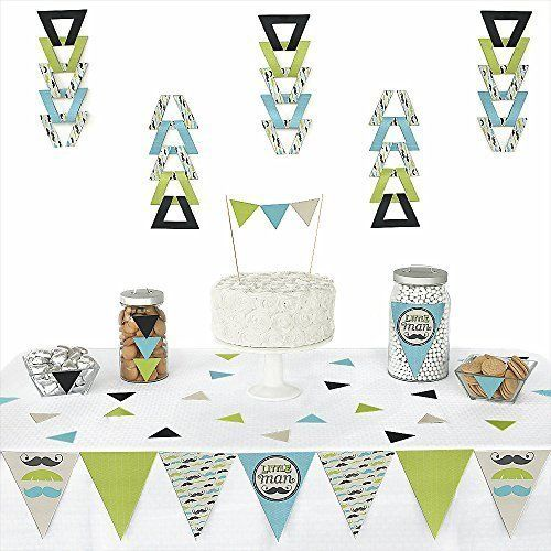 72 Pieces Big Dot of Happiness Lets Fiesta Mexican Fiesta Triangle Party Decoration Kit