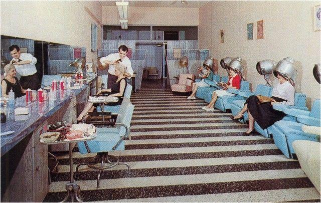 Salon De Coiffure Retro : Salon de coiffure rollers pinterest salons vintage