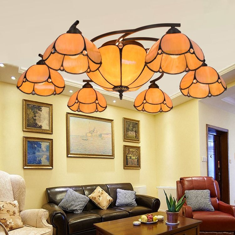 Tiffany Baroque Stained Glass Suspended Luminaire E27 110240V Enchanting Stained Glass Light Fixtures Dining Room Design Inspiration