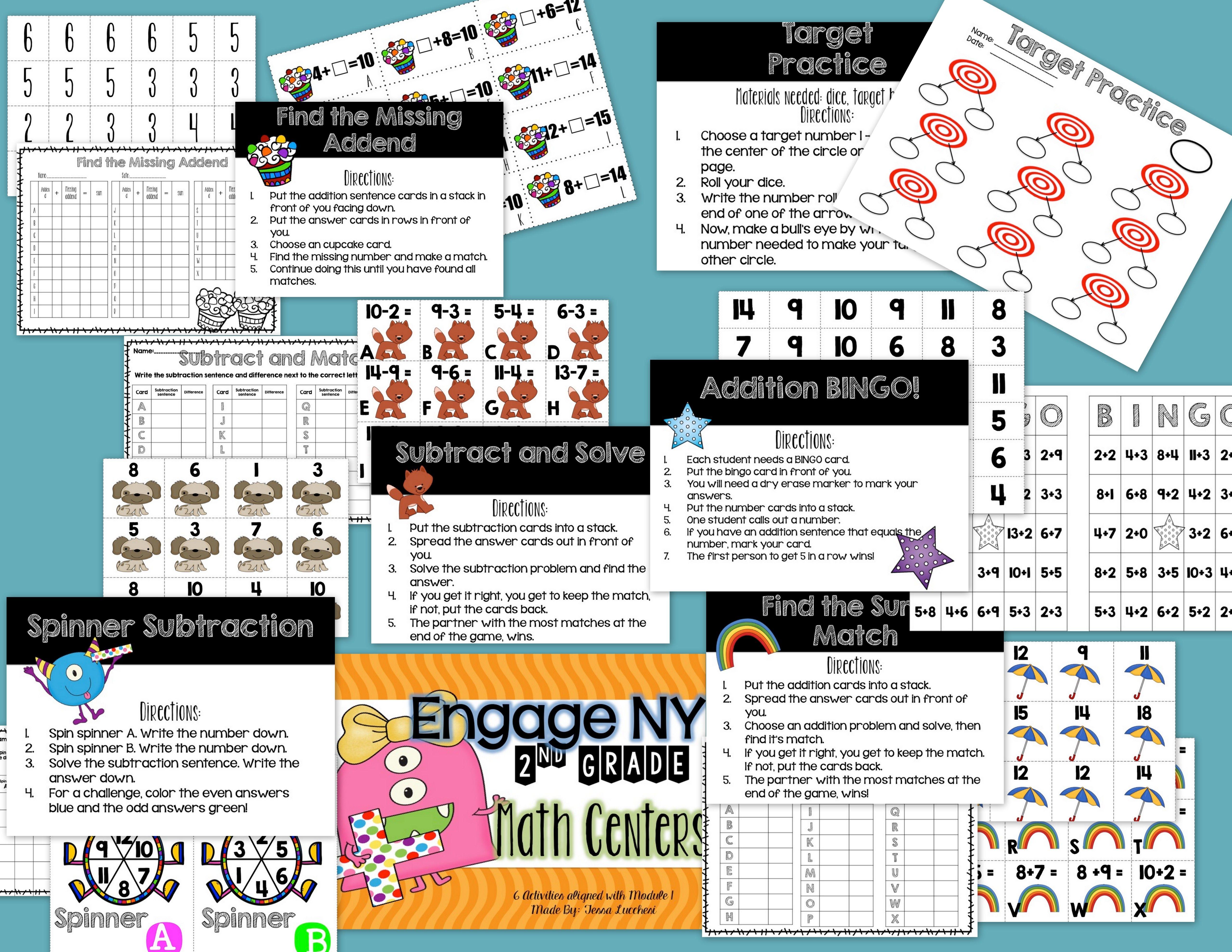Eureka Math Centers 2nd Grade Module 1