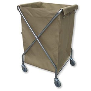 Lavex Lodging Commercial Laundry Cart Trash Cart 10 Bushel
