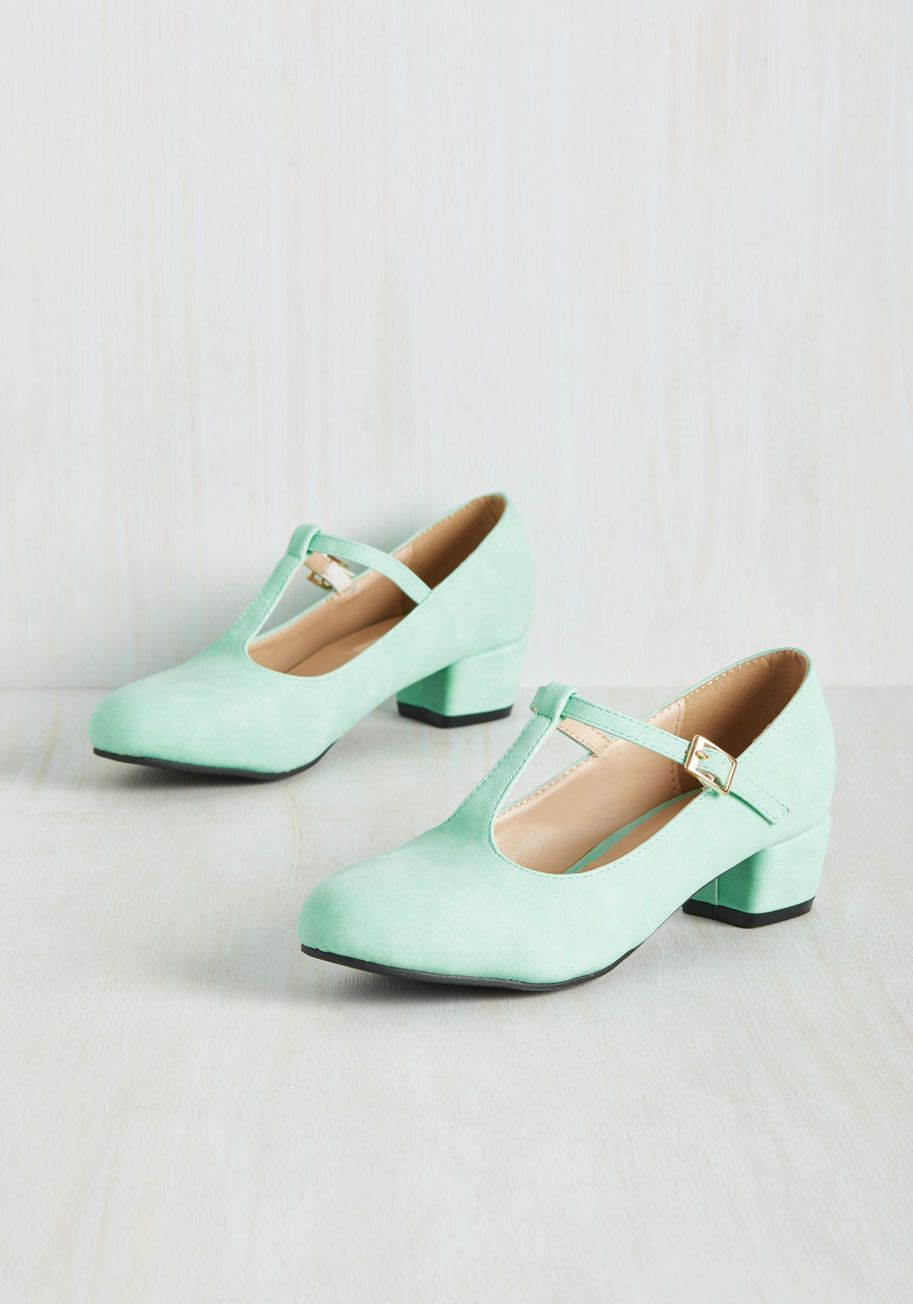 Slicker Than Your Average Jumpsuit | Kitten heels, Mint green and ...