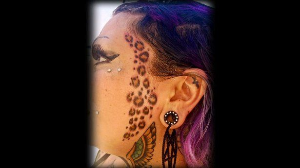 This Cheetah Print Face Tattoo Decision Made After A Broken