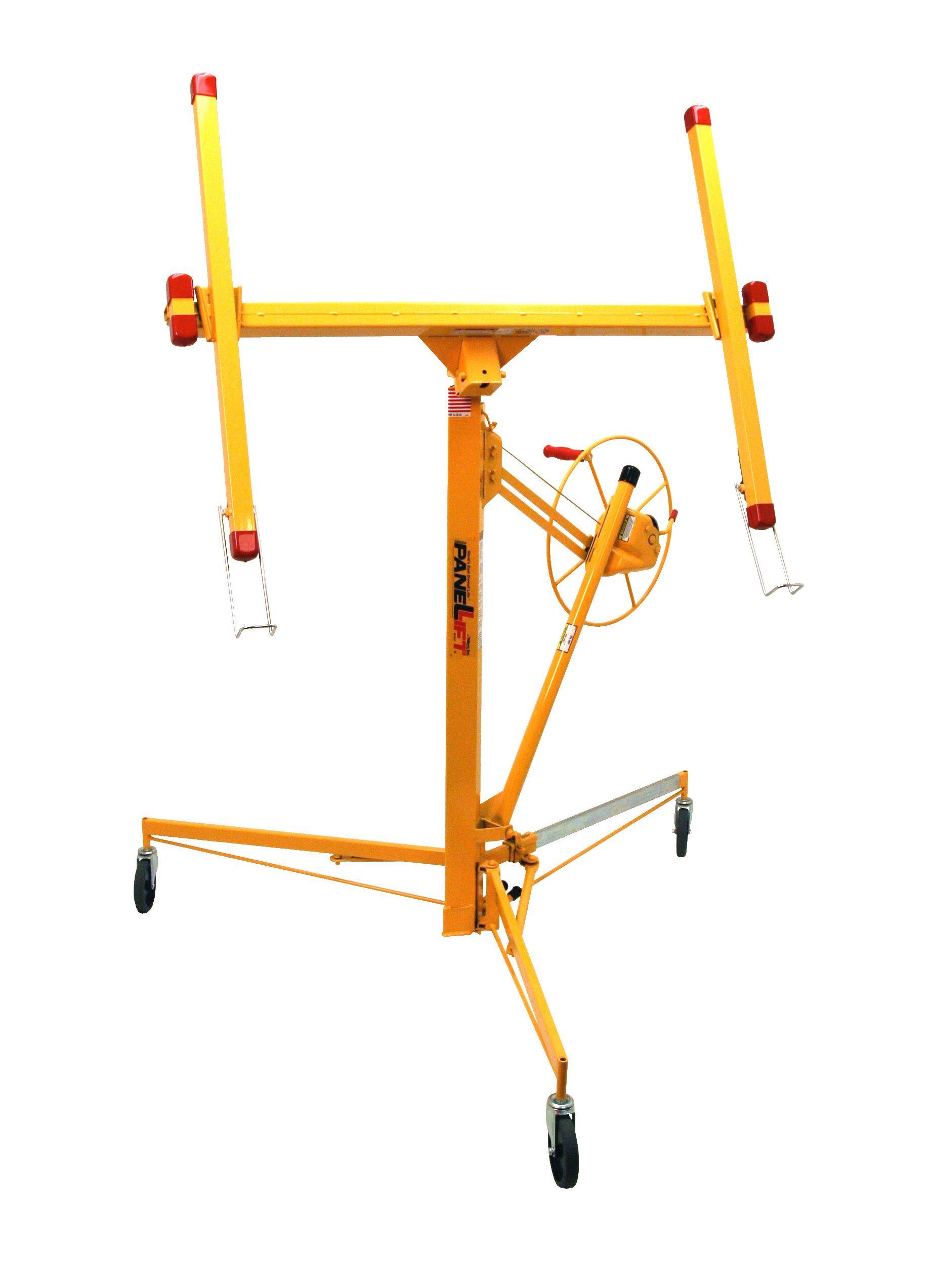 Mobile Drywall Lift Plaster Board Sheetrock Lifter Panel Hoist 11FT//150lbs//68kg