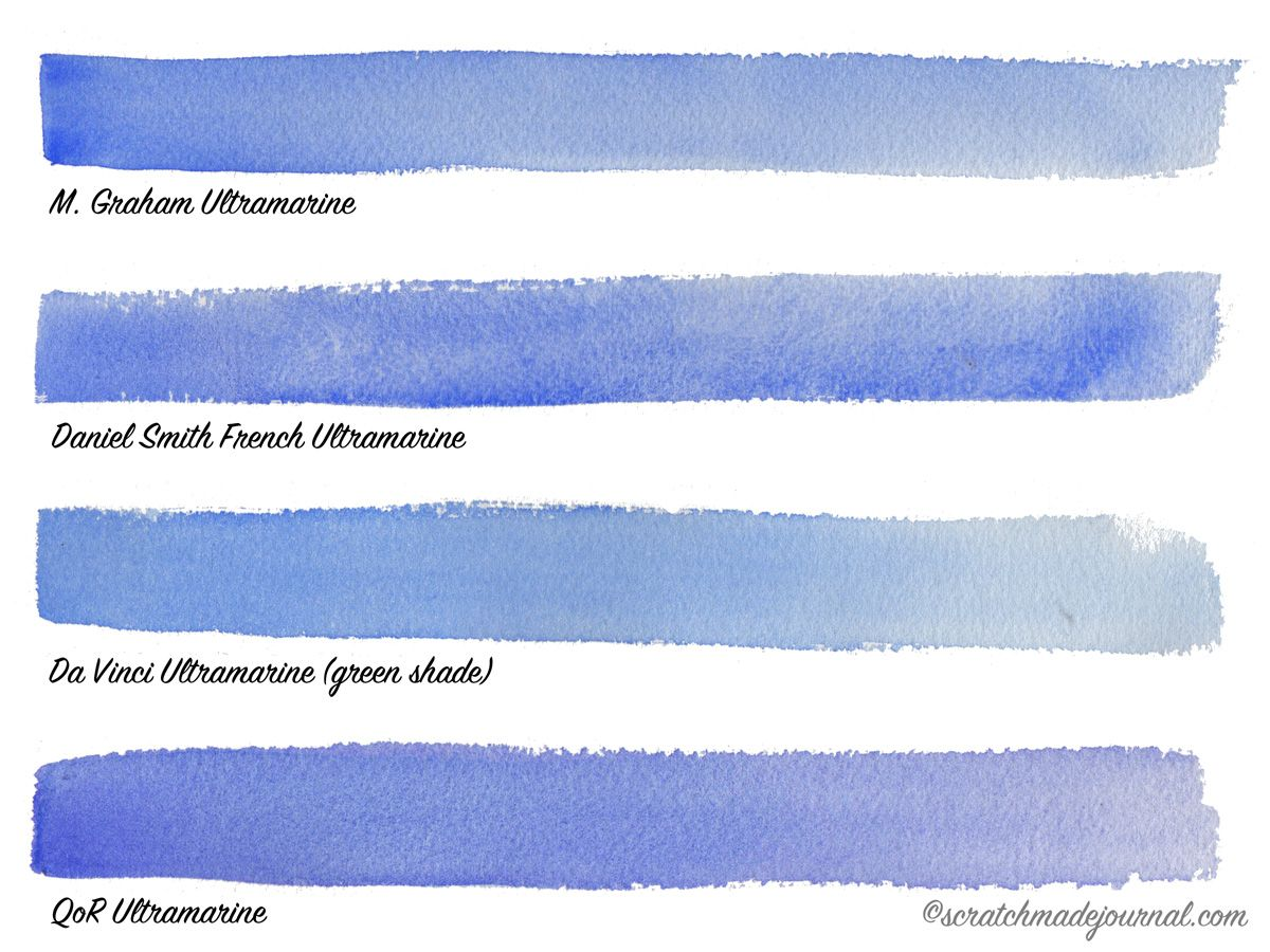 Comparing Blue Watercolors Cobalt Vs Ultramarine Watercolor