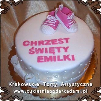 008 Tort Z Bucikami Dla Dziewczynki Na Chrzest Swiety Cake With Shoes For Baptism Birthday Cake Desserts Cake