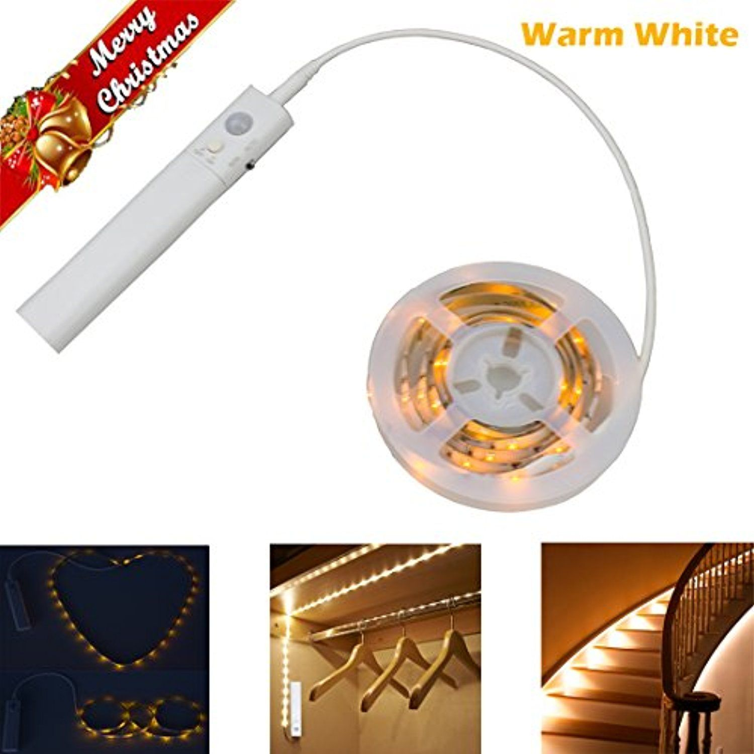 Christmas Gifts Closet Lights Under Cabinet Lights Motion Activated Led Strip Lighting Battery Powered Led Strip Lighting Under Cabinet Lights Strip Lighting