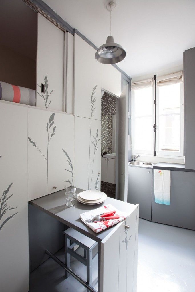 Am nager une chambre de bonne de 8 m tres carr s studio appartement petit appartement et - Amenager une chambre de bonne ...