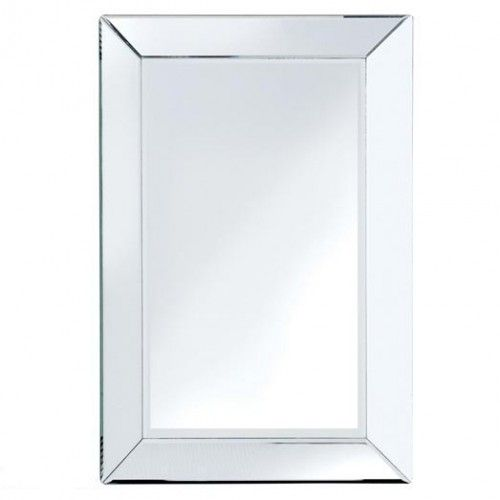 Attractive Bevelled Edge Mirror Large Large Bevelled Wall Mirror With Angled Glass Edge  / Frame. The Mirror Can Be Hung Portrait Or Landscape.