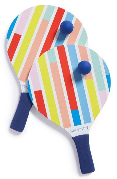 sunnylife beach ping pong set yellow one size pattern colores rh pinterest es