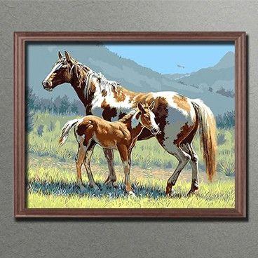 Malen Nach Zahlen Pferde Auf Der Wiese Mnz Bbl 078 Malen Nach