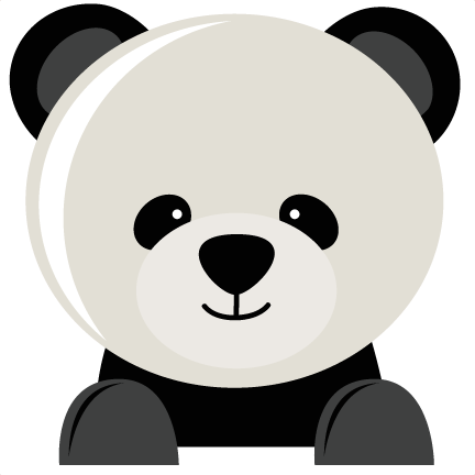 Panda Bear SVG fiel for scrapbooking panda bear svg cut file for ...