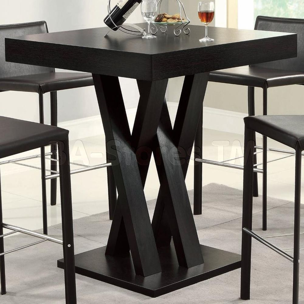 Crisscross Bar Table With Square Table Top | Bar