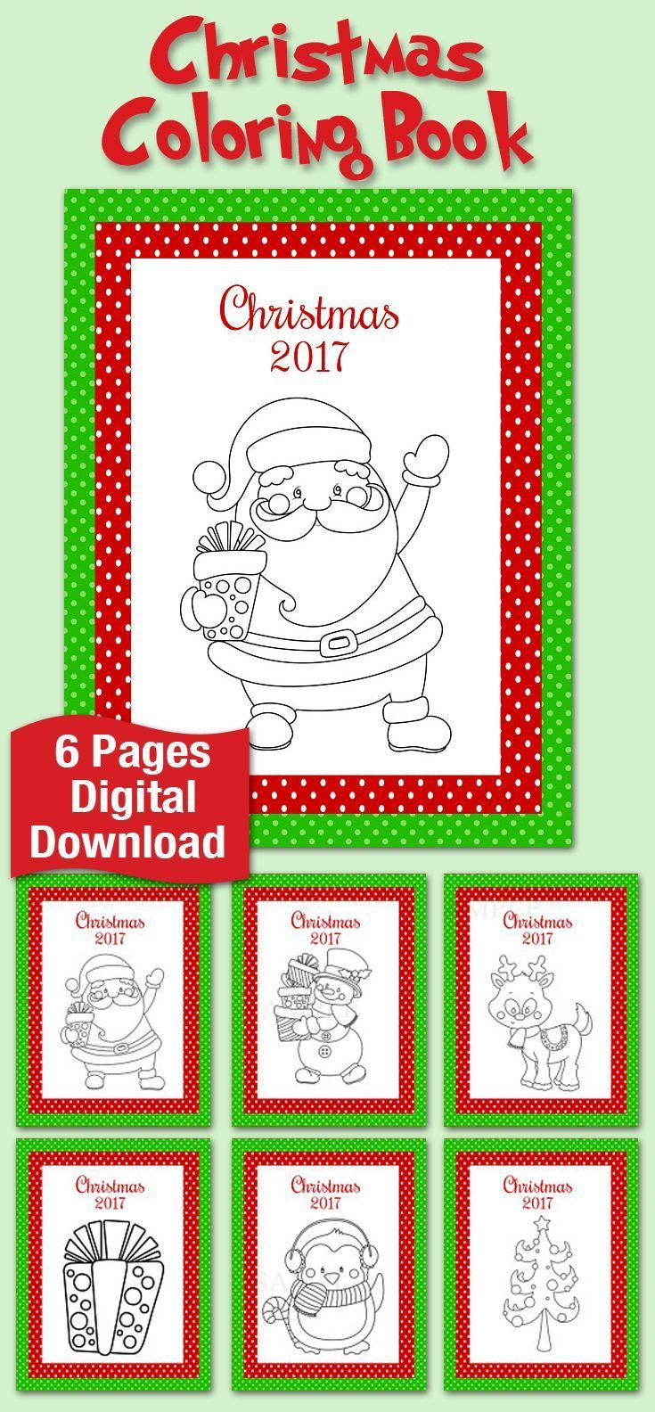 Printable Digital Download. 6 different pages for your little ones ...