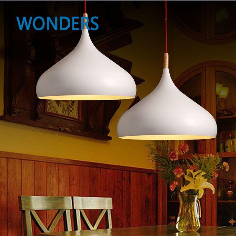 Goedkope Japanse Hanglampen Effen Korte Witte Nordic Light Iron ...