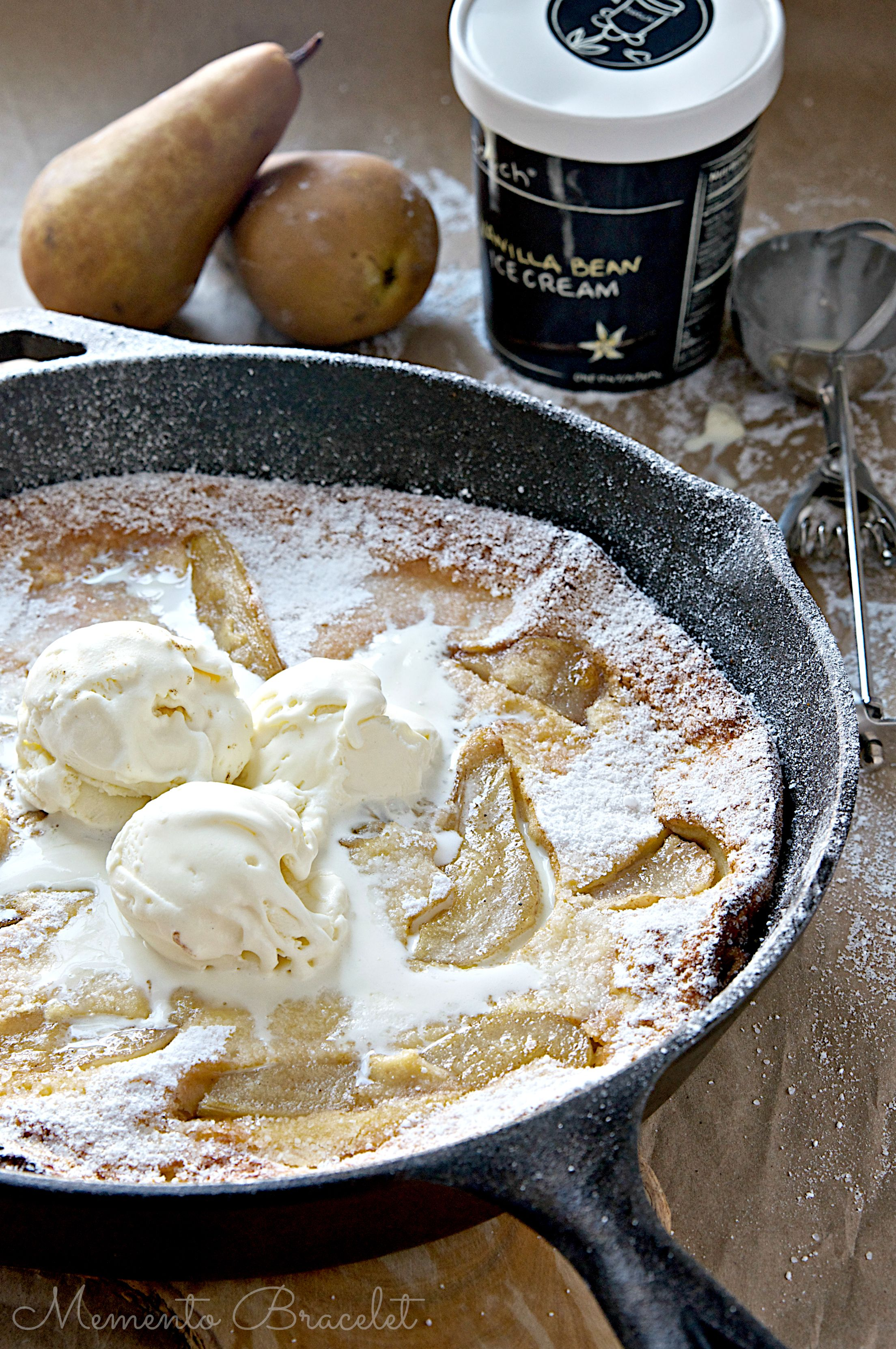 Gluten Free Browned Butter Pear Dutch Baby