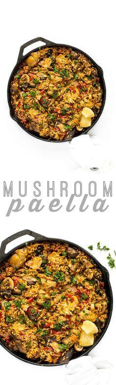 Mushroom Paella | Rezept | Vegane gerichte, Futter und Herzhaft