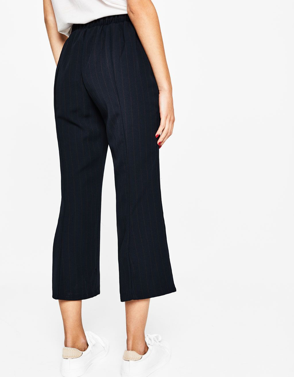 37897a1be1 Cropped wide-leg trousers. Discover this and many more items in Bershka  with new products every week
