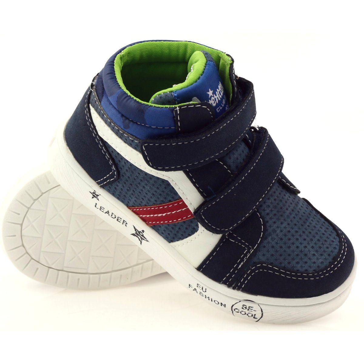American Club Trzewiki Sportowe American 17353 Granatowe Czerwone Biale Baby Shoes Shoes Sneakers