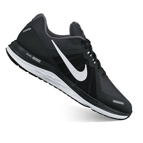 Updated with two robust Flywire cables in the midfoot these mens Nike  running shoes offer a dynamic fit in the upper with the same dualdensity