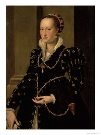 Portrait of Laudomia de Medici Giclee Print by Agnolo ...