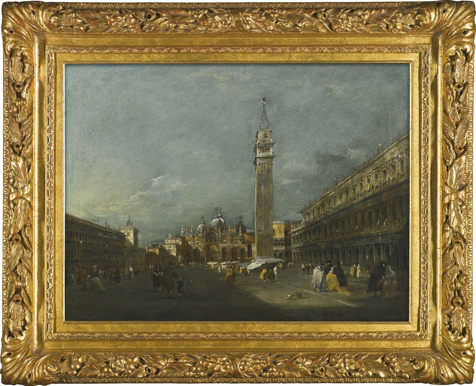 Francesco Guardi VENICE 1712   1793 VENICE, PIAZZA SAN MARCO, LOOKING EAST  TOWARDS THE
