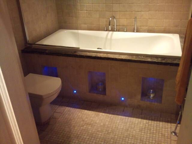 Custom Bath Panel with Blue LED lights. | NKX CARPENTRY SERVICES ...