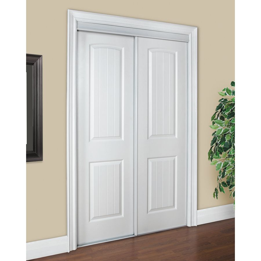 Reliabilt White 2 Panel Round Top Sliding Closet Interior Door Common 72 In X 80 Actual 78 At Lowes