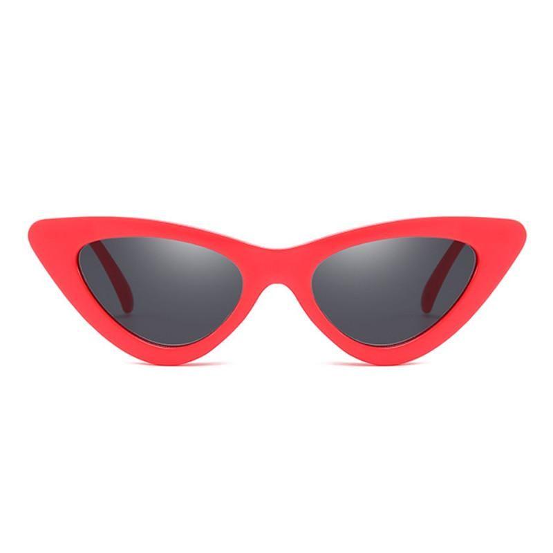 Topgrowth Occhi di Gatto Triangle Occhiali da Sole Donna Vintage Retro Eyewear Integrato UV Caramelle Colorate Bicchieri