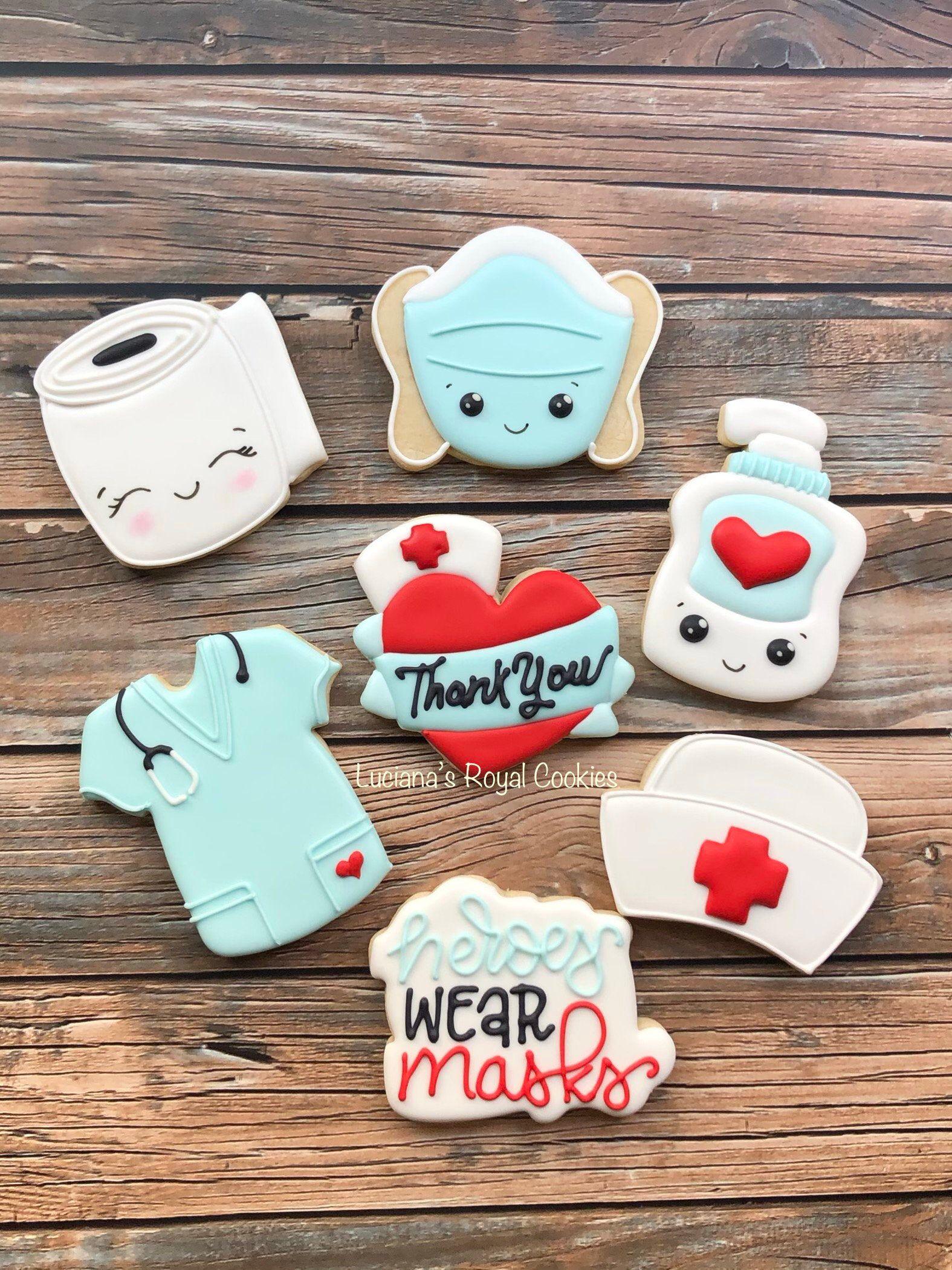 Nurse Cookies / Nurse Appreciation Cookies / Nurse